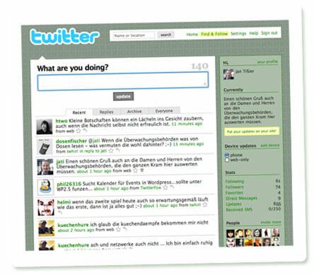 Twitter Screenshot - eigene Seite