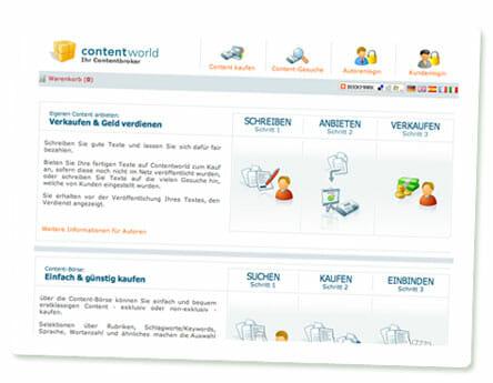 Screenshot Contentworld