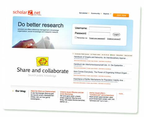 Screenshot von scholarz.net