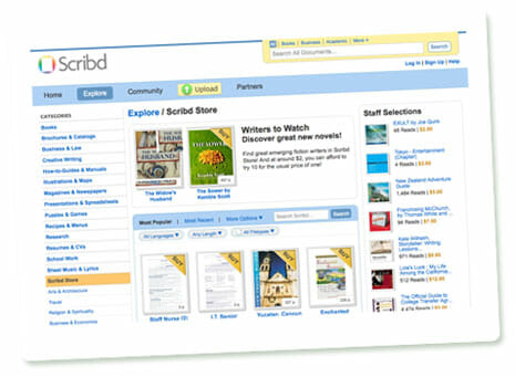 Screenshot Scribd Store