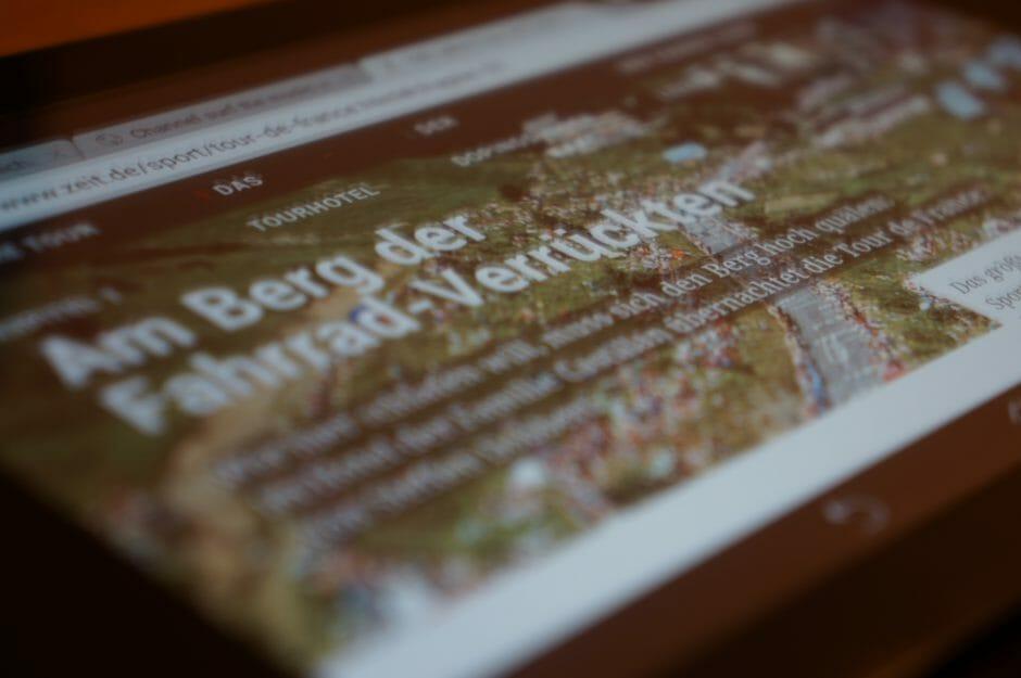 Tour de France Reportage von Zeit Online