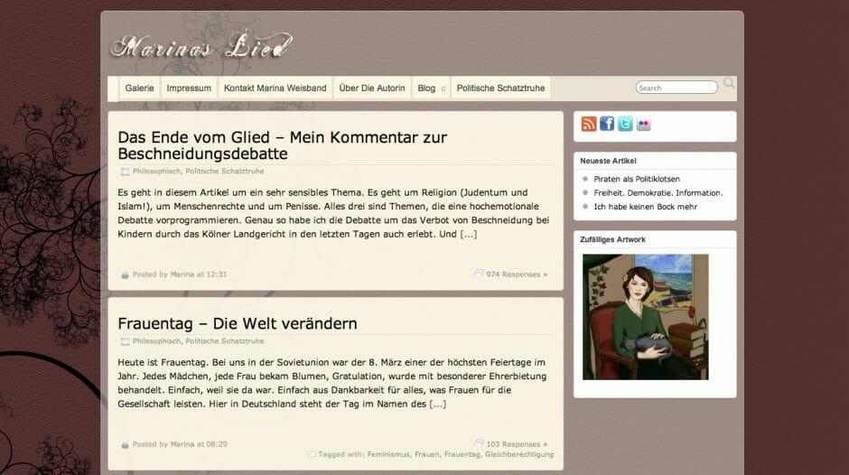 Marina Weisbands Blog