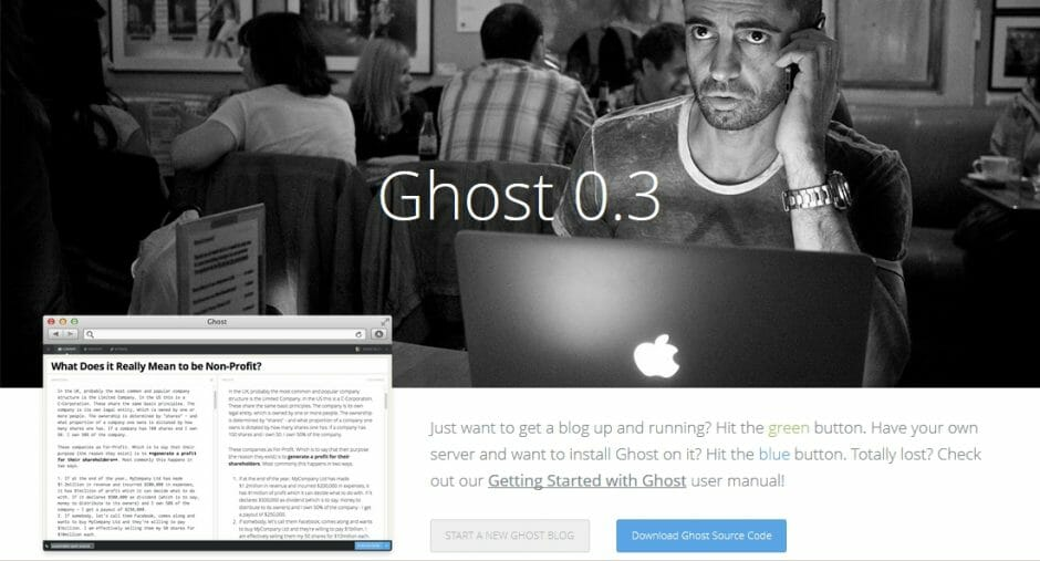 Das Blogsystem Ghost
