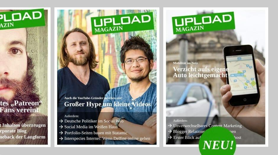 Upload Magazin Ausgabe Oktober 2013