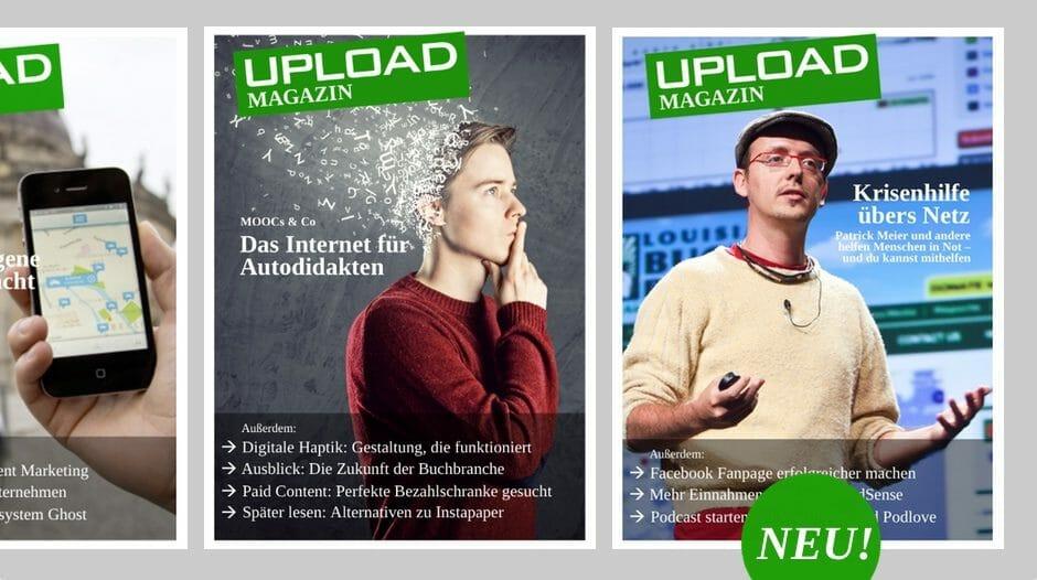 UPLOAD Magazin im Dezember 2013