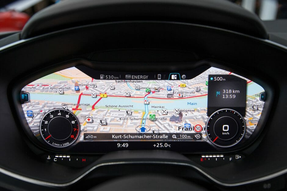 Auf der CES 2014 zeigte Audi das neue, virtuelle Cockpit des kommenden Audi TT (Bild: Audi).