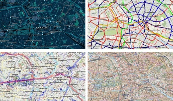 OSM-Karten für Berlin