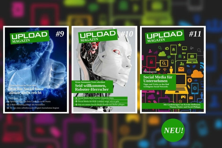 Das UPLOAD Magazin im Juni 2014