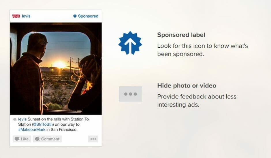 Dank dezentem Design sollen die Ads auf Pinterest und Instagram das User Experience nicht negativ beeinflussen. (Printscreen: instagram.com)