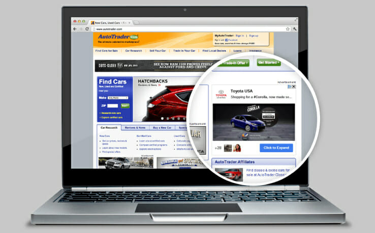 Beispiel für eine +Post Ad von Toyota. (Bild: techrunch.com)