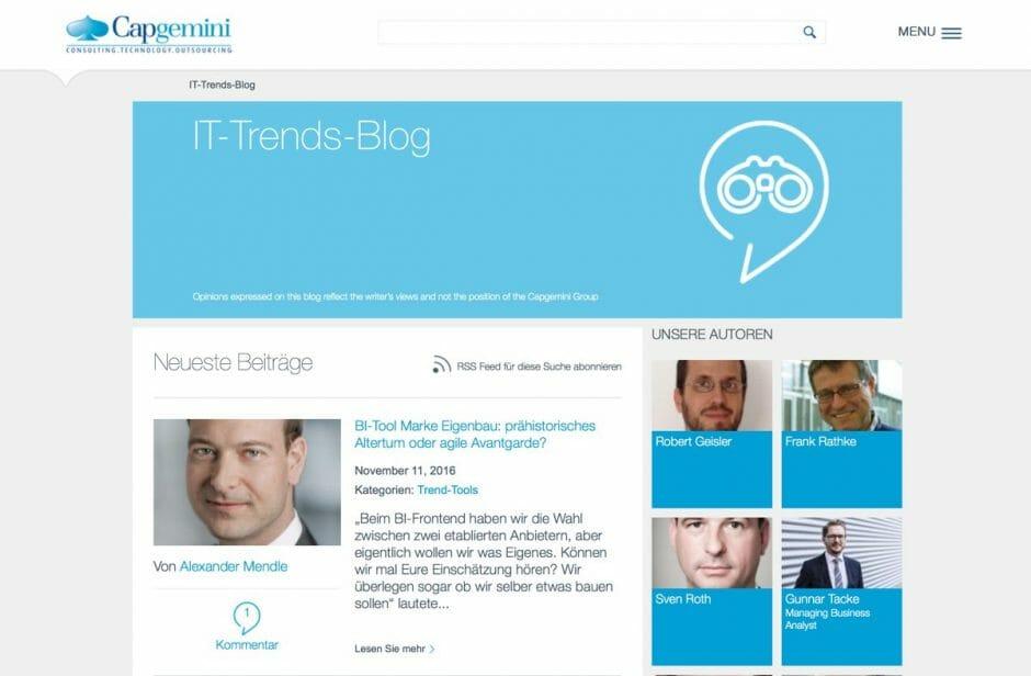 IT-Trends Blog von Capgemini