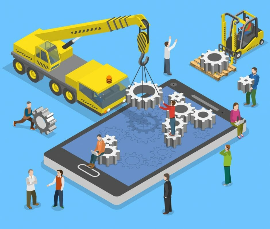 Symbolfoto App Entwicklung