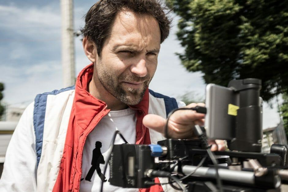 Roman Lehmann während der Dreharbeiten auf der offenen Rennbahn in Zürich.