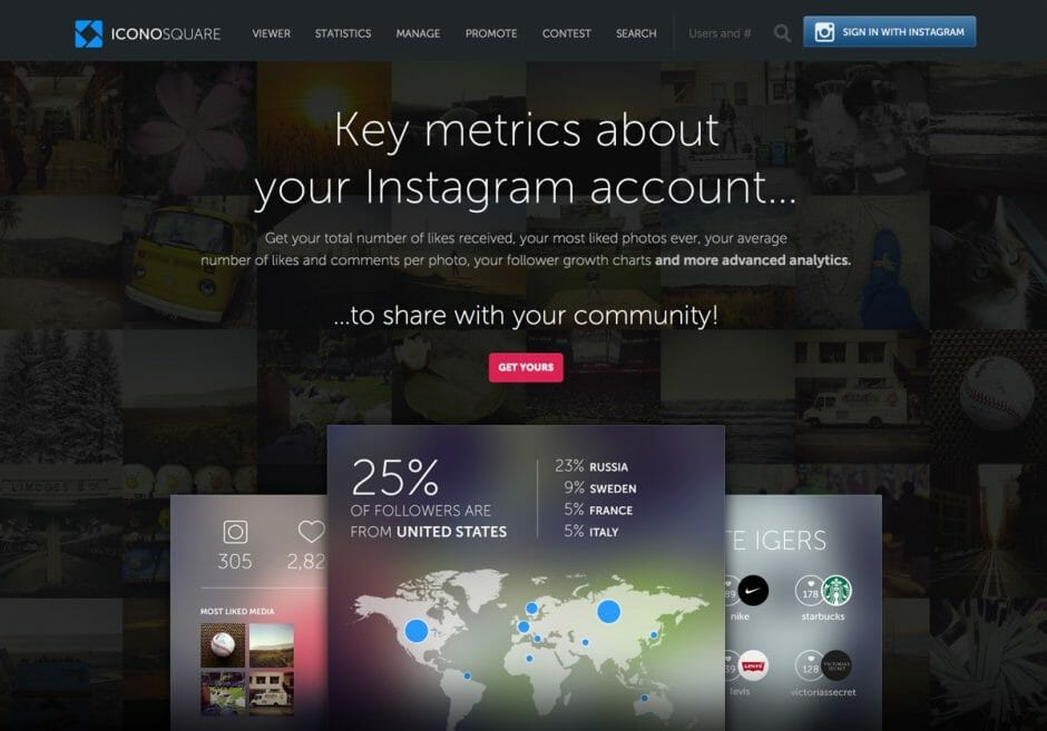 Website von Iconosquare