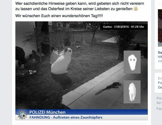 Nicht nur dieses Oster-Posting zeigt: Die Polizei München kann auch Humor