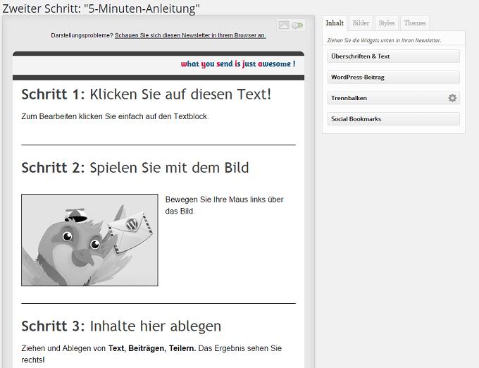 Screenshot MailPoet