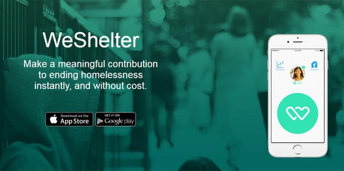 Mit dieser App kann man Obdachlosen in Not helfen (Bild: WeShelter)