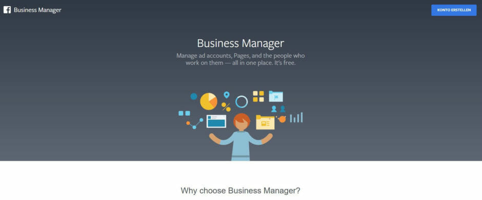 Informationsseite Facebook-Business-Manager