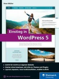 Cover von Einstieg in WordPres 5 von Peter Müller bei Rheinwerk Verlag