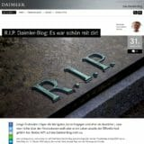 Screenshot Abschiedpost Daimler-Blog