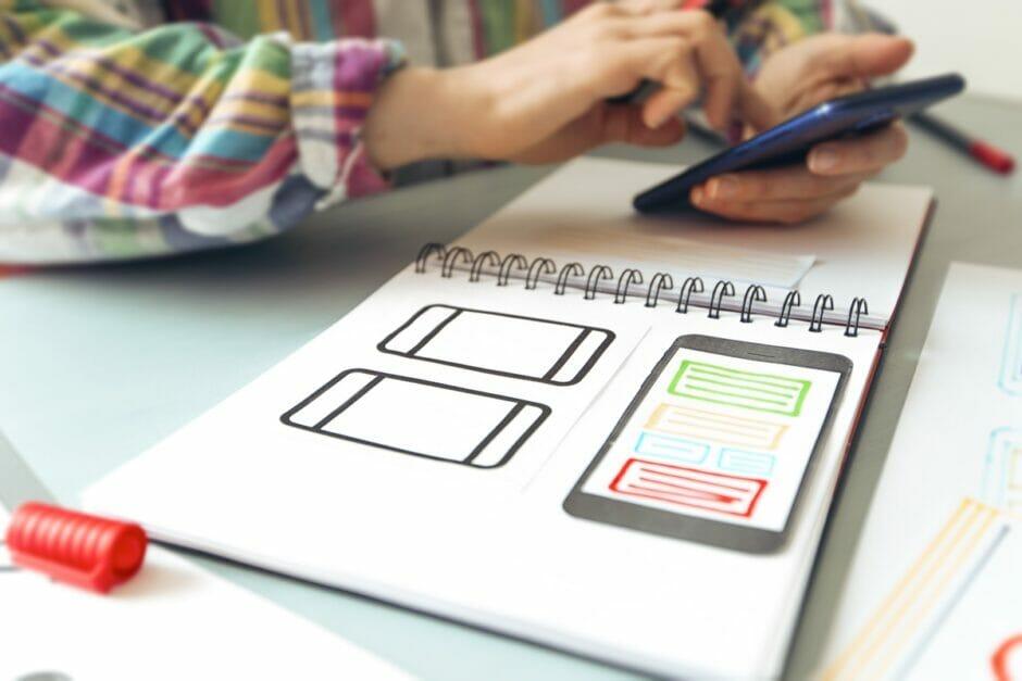 Design einer Mobilanwendung wie einer Progressive Web App