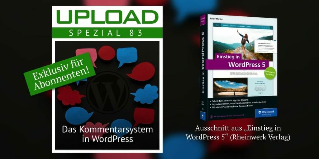 Illustration zeigt des Cover des UPLOAD Spezials und des Buchs, aus dem der Inhalt stammt