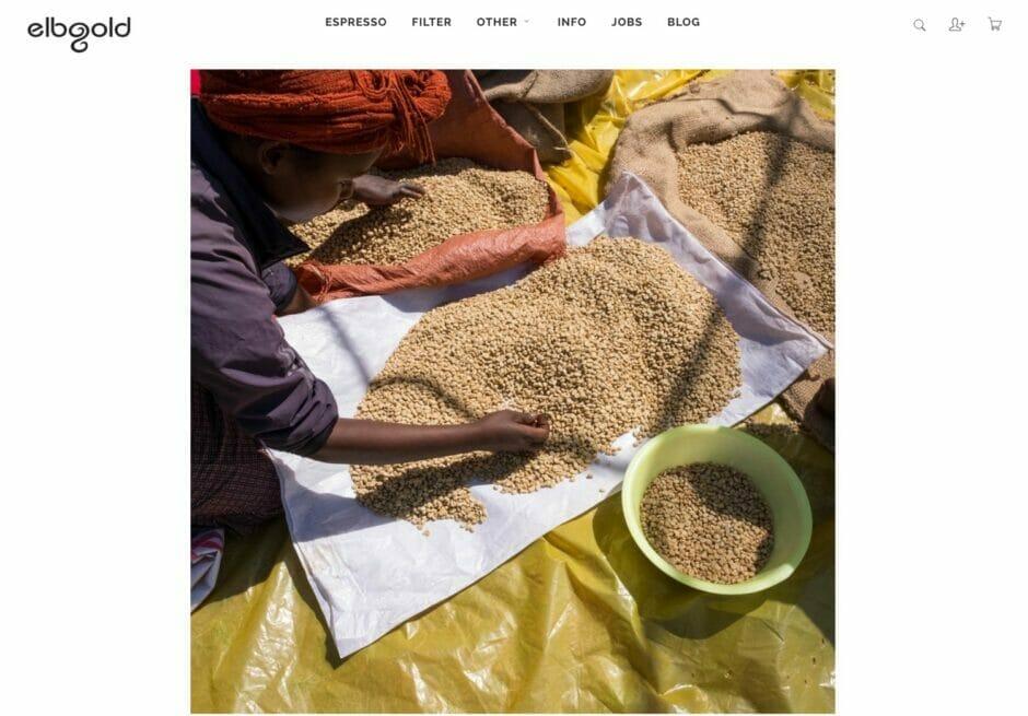 Screenshot einer Foto-Reisereportage aus dem Elbgold-Blog